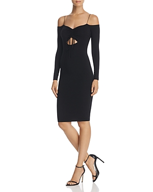 T by Alexander Wang Off-the-Shoulder Cutout Body-Con Dress