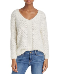 Molly Bracken Fuzzy Faux Pearl-Trimmed Sweater - Bloomingdale's_0