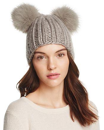 Eugenia Kim - Mimi Fur Pom-Pom Ears Beanie ef8caea464f