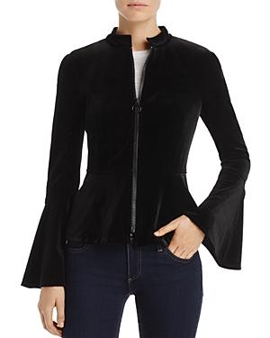 Aqua Bell Sleeve Velvet Jacket - 100% Exclusive