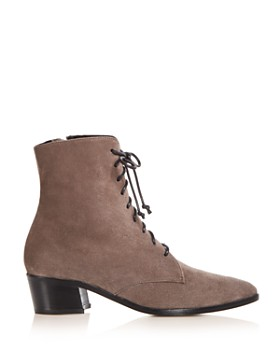 Archive - Women's Barrow Suede Pointed Toe Low Heel Booties