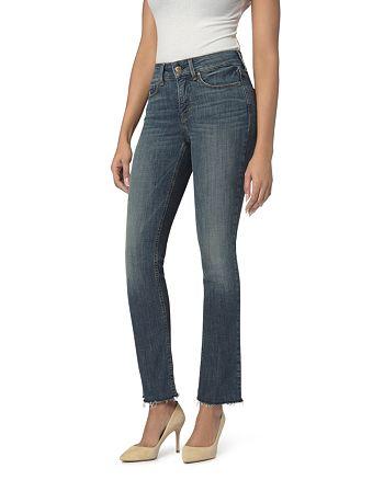 NYDJ - Marilyn Straight-Leg Frayed Ankle Jeans in Desert Gold