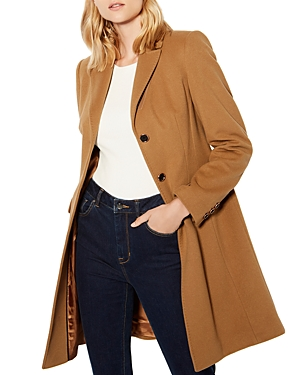 Karen Millen Camel Three-Button Coat