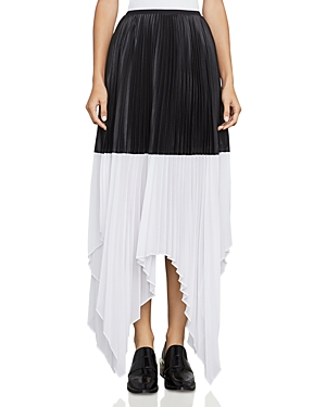 Bcbgmaxazria Christy Color-Block Pleated Skirt at Bloomingdale's