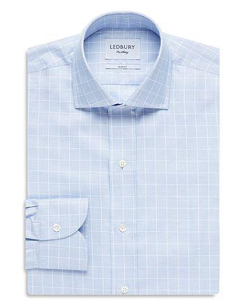 Ledbury - Windowpane Check Slim Fit Dress Shirt