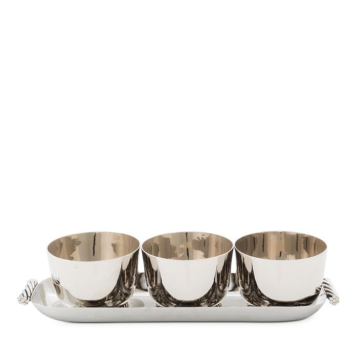 Michael Aram - Twist Triple Bowl Set with Tray