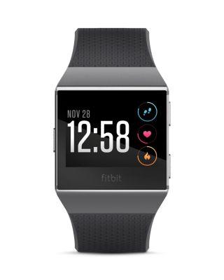 FITBIT Unisex Ionic Smoke Gray Elastomer Strap Smart Watch 35Mmx32Mm in Smoke Grey