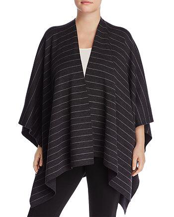 Eileen Fisher Plus - Reversible Merino Wool Stripe Serape