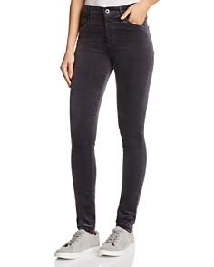 AG - Farrah Velvet Skinny Jeans in Rich Mercury