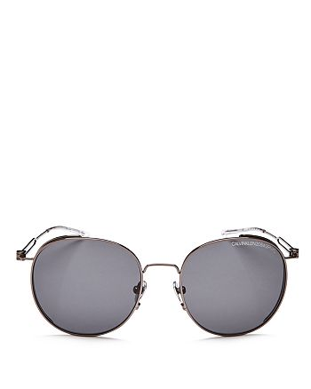 Calvin Klein 205W39NYC - Men's Round Sunglasses, 52mm
