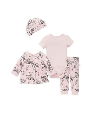 Offspring - Girls' Take Me Home Reversible Jacket, Bodysuit, Pants & Hat Set - Baby