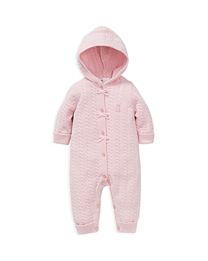 Little Me Girls Girl Cable Knit Coverall  Baby