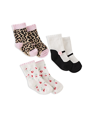 kate spade new york Girls' Multi-Print Socks, Set of 3 - Baby
