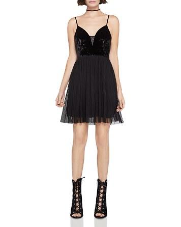 $BCBGeneration Velvet-Bodice Dress - Bloomingdale's