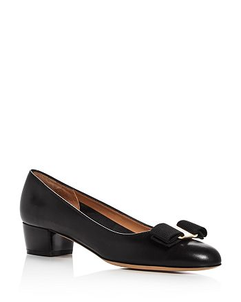 68ece60a124fd Salvatore Ferragamo - Women s Vara Leather Low Heel Pumps