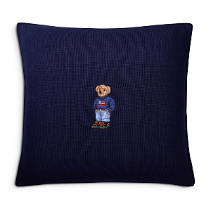 Ralph Lauren Flag Bear Decorative Pillow, 18 x 18