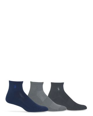 Quarter Sport Socks, Pack Of 3 by Polo Ralph Lauren