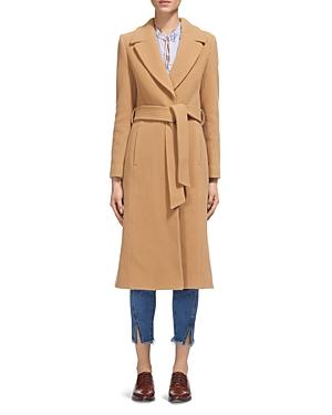 Whistles Alexandra Belted Camel Coat
