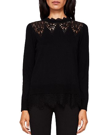 ccc6d66ba Ted Baker - Aarun Lace-Trim Sweater