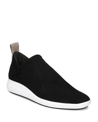 VIA SPIGA Women'S Marlow Suede Slip-On Sneakers in Black Suede