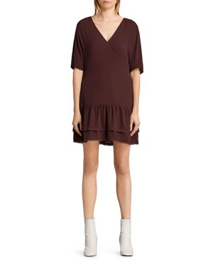 Allsaints Marley Tiered-Hem Dress