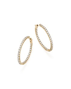 Bloomingdale's - Diamond Inside Out Hoop Earrings in 14K Yellow Gold, 5.0 ct. t.w. - 100% Exclusive