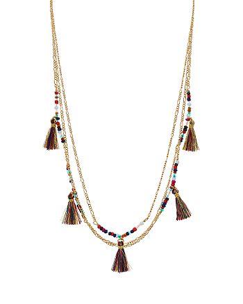 """Rebecca Minkoff - Multi-Tassel Delicate Necklace, TK"""""""