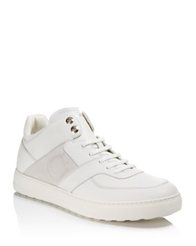 Salvatore Ferragamo - Men's Cliff Leather Mid Top Sneakers