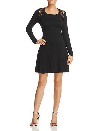 Robert Michaels - Lace Shoulder Dress - 100% Exclusive