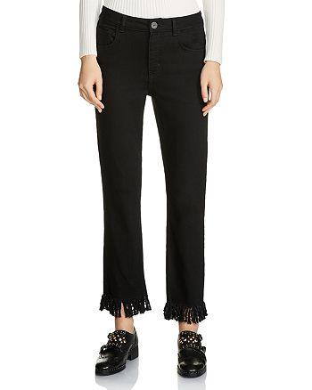 Maje - Panako Cropped Fringed-Hem Jeans