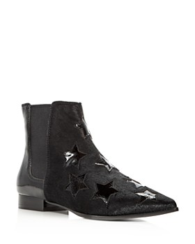 Ash - Women's Bliss Calf Hair & Patent Leather Chelsea Booties