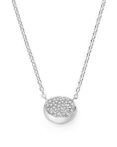 IPPOLITA - Sterling Silver Onda Diamond Small Pendant Necklace, 16""