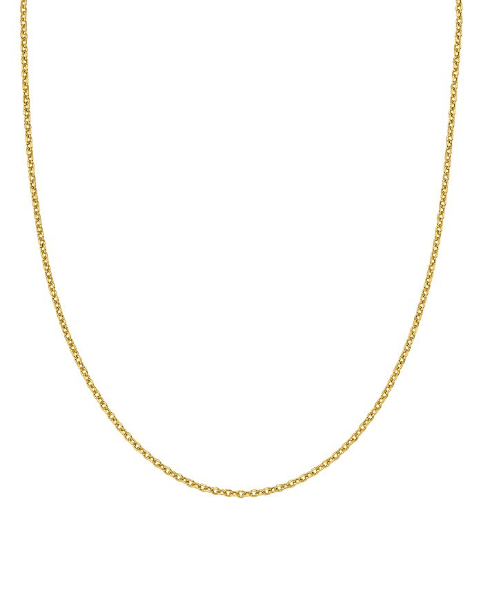 """Bloomingdale's - 14K Yellow Gold Adjustable Semi Solid Chain, 22"""" - 100% Exclusive"""