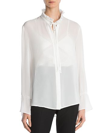 The Kooples - Tie-Detail Crepe Shirt