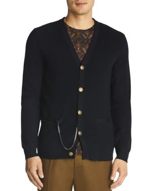 The Kooples Wool and Leather Cardigan
