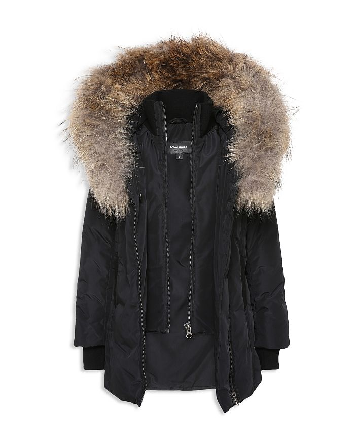 Mackage - Unisex Leelee Fur-Trimmed Coat - Big Kid