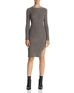 Freeway Side-Slit Sweater Dress