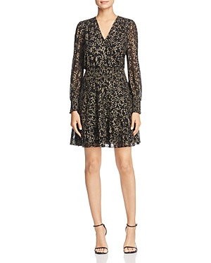 Michael Michael Kors Star Print Faux-Wrap Dress