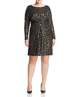 Michael Michael Kors Plus Twisted Star Print Dress