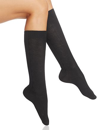 HUE - Super Soft Cable Knit Knee Socks