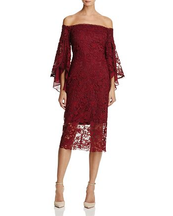 Laundry by Shelli Segal - Off-the-Shoulder Lace Dress