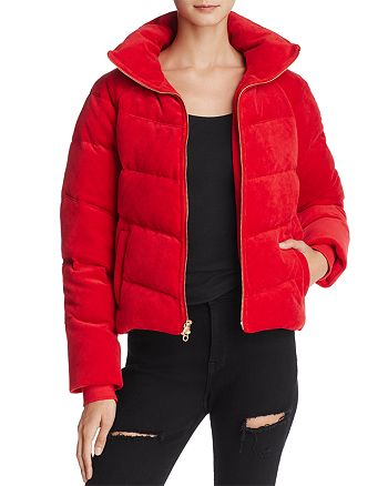 Juicy Couture Black Label - Velour Down Puffer Jacket