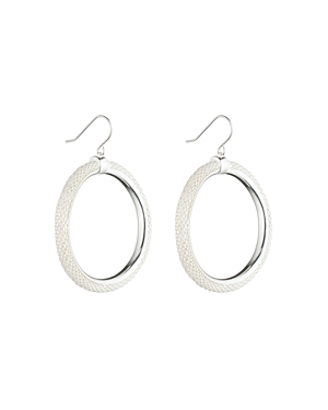 Lauren Ralph Lauren Frozen Hoop Earrings