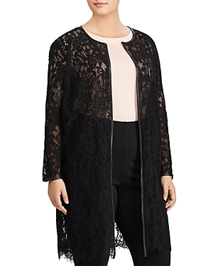 Lauren Ralph Lauren Plus Lace Duster Jacket