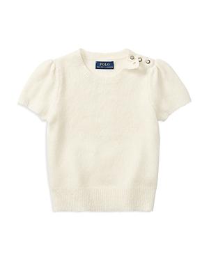 Ralph Lauren Childrenswear Girls' Sweater with Puff Sleeves - Little Kid