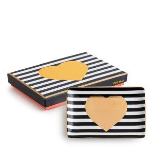 Rosanna Striped Porcelain Heart Tray
