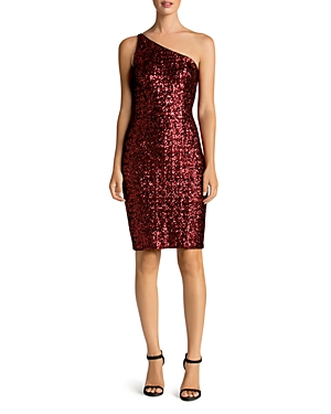 Dress the Population Cher One-Shoulder Sequin Dress