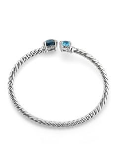 David Yurman - Châtelaine Bypass Bracelet with Hampton Blue Topaz, Blue Topaz & Diamonds