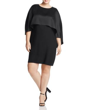 Vince Camuto Plus Cape Overlay Dress