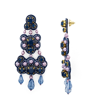 Tory Burch Beaded Chandelier Drop Earrings